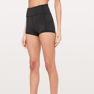 Lululemon High Waist Spandex Shorts Black Size 4